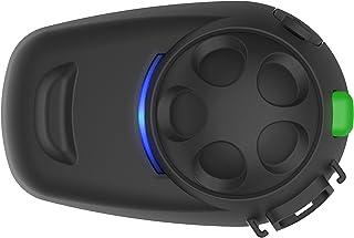 SMH5 Multicom SMH5 FM Bluetooth Kommunikationssystem mit integriertem FM Tuner für Motorräder und Roller mit Schnellmontage Helmklemmeinheit