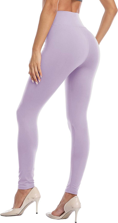 VESHINE Womens High Waisted Leggings Waist Control Yoga Pants Workout Tights Super Soft Trousers