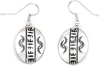 80 علامة صن ستارلينج أقراط من الفضة النافاجو الأصلية الأمريكية 27260-6 مصنوعة بواسطة لوما سيفا