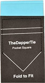 TheDapperTie - Men's Cotton Flat Double Toned Pre Folded Pocket Square on Card