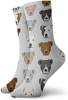 Pitty Heads - Calcetines de vestir para hombre, color gris claro