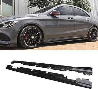 Fandixin W117 Side Skirts, Carbon Fiber Side Skirt Extension for Mercedes-Benz A Class W176 AMG A45 AMG CLA Class W117 AMG...
