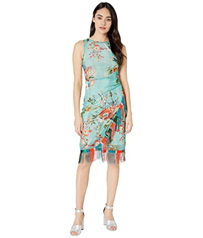 FUZZI Bouquet Sleeveless Fringe Dress (Pastello) Women