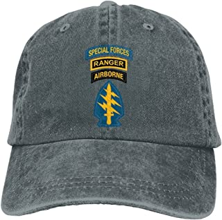 Special Forces Ranger Airborne Dad Hat Adjustable Denim Hat Classic Baseball Cap