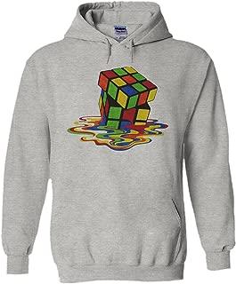Melting Rubik`s Cube Game Novelty Black Men Women Unisex Hooded Sweatshirt Hoodie