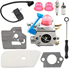 Harbot 128LD Carburetor with Air Filter Tune Up Kit for Husqvarna 124L 125E 125C 125L 125LD 125R 125RJ 128C 128CD 128L 128LDX 128R 128RJ 128DJX Craftsman String Trimmer C1Q-W40A