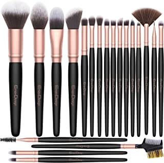 EmaxDesign Makeup Brushes 20 Pcs Premium Synthetic Makeup Brush Set Professional Contour Concealer Foundation Powder Eye Shadows Blush Blending Brushes Kit (Rose Golden)