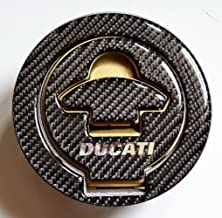 Ducati 848 1099 998 999 Real Carbon Fiber Fuel Tank Cap Filler Cover Pad