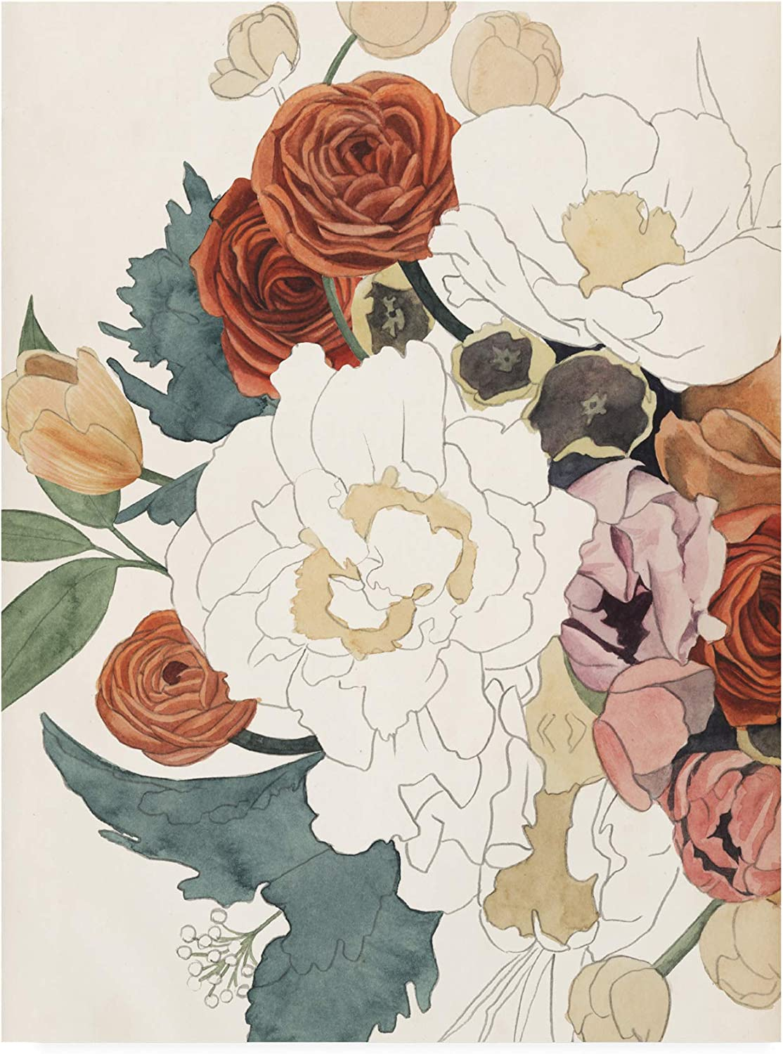 Trademark Fine Art Imperfect Bouquet I by Grace Popp, 14x19 19x14