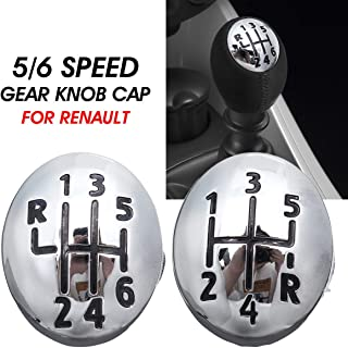 5/6 Speed Car Gear Knob Cap Cover Shift Lever Head Cover For Renault Clio Twingo Scenic Megane II 1996-2011 (6 Speed)