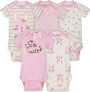 b920358152fc Beige Baby Girls  Bodysuits