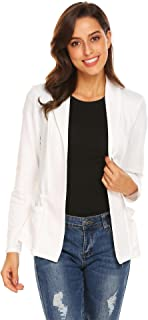 Women's Long Sleeve Cardigan Jacket Work Office Blazer