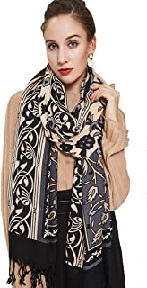 Pure Wool Women Scarf Large Size Ponchos Pashmina Shawls and Wraps