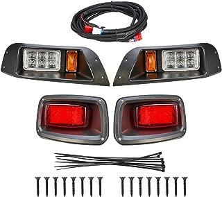 kemimoto for EZGO TXT Golf Cart LED Headlight & Tail Light Kit 1996-2013 Gas and Electric