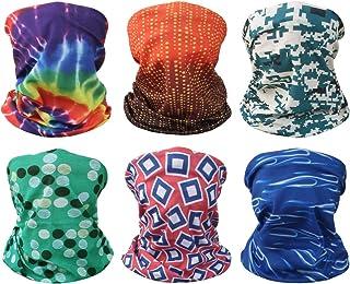 kilofly 6/8 pc Multi-purpose Seamless Headwear Bandanas Mixed Set Value Pack