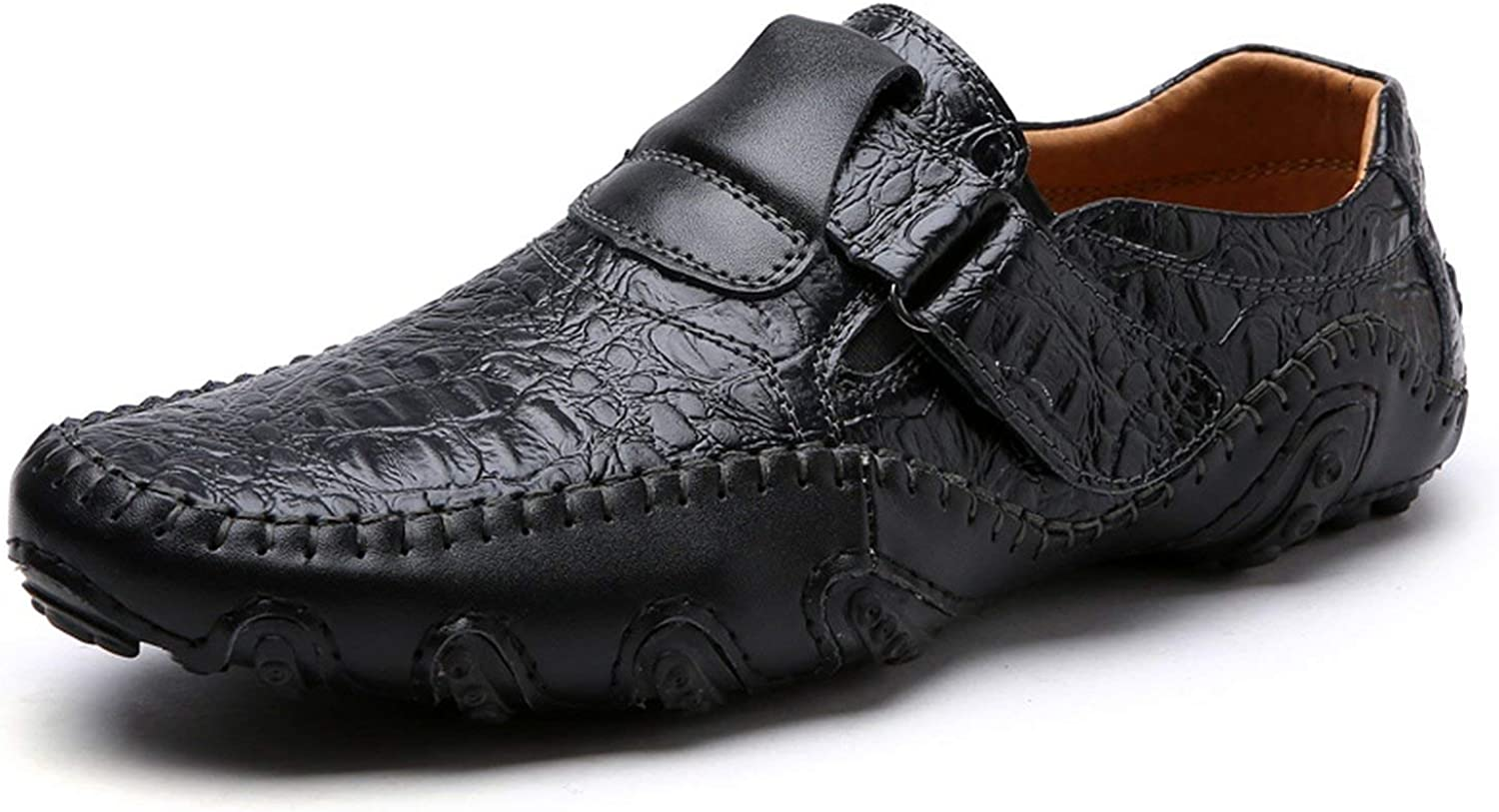 FJ -Direct Luxury Casual skor män Loafers Genuine läder Flat Slip on Designer skor män Mocasins skor Footwear Mane