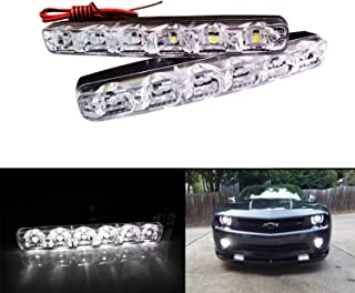 BOGAO 2pcs de alta potencia 6W 12V 6000K Xenon Slim COB LED DRL Lámpara diurna de luz diurna Lámpara de luz diurna para automóvil SUV Sedan Coupé Vehículo Universal (Xenon White)