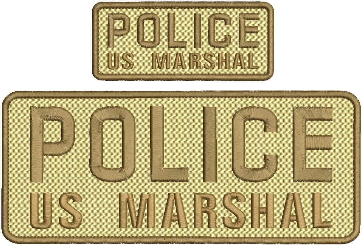 Police US Marshal mbroidery Patches 4x10 and Our shop OFFers the best service Las Vegas Mall backbr on Hook 2x5