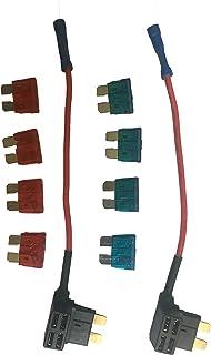 KOLACEN Bil lastbil 2 delar 16 mätare tilläggskretssäkring TAP-adapter för vanlig standard bladtyp säkring + 8 delar stand...