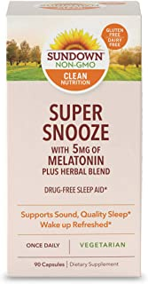 Sponsored Ad - Melatonin Capsules by Sundown, for Sound, Quality Sleep*, Vegetarian Herbal Blend, Non-GMOˆ, Free of Gluten...