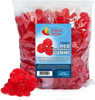 Berry Red Gummi Raspberries - Raspberry Gummies - Red Candy - Gummy Rasberries - Gummies - Bulk Candy - 5 LB Bulk Bag