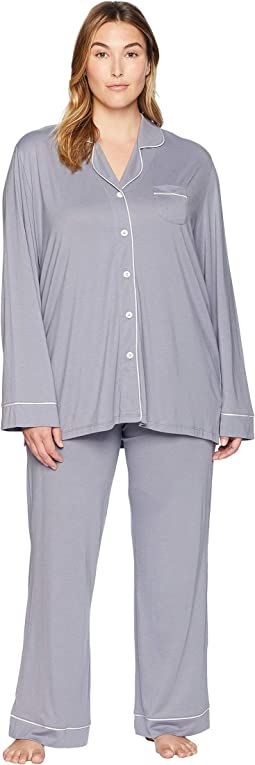 Plus Size Bella PJ Long Sleeve Top and Pants PJ Set