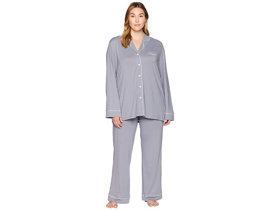 Cosabella Plus Size Bella PJ Long Sleeve Top and Pants PJ Set (Incenso/Moon Ivory) Women