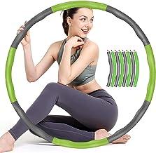 Sunshine smile Hoelahoep, fitness hoelahoep voor gewichtsvermindering en massage, fitness hoelahoepband, gymnastiek circui...