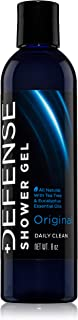 Defense Soap Body Wash Shower Gel 8 Oz - 100% Natural Tea Tree Oil and Eucalyptus Oil