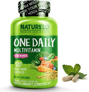 NATURELO One Daily Multivitamin for Women – Best for Hair, Skin Nails –..