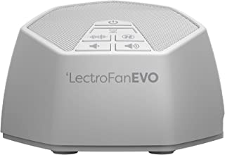 LectroFan Evo - Máquina de Ruido Blanco con 22 Sonidos Únicos de Ventiladores y Ruido Blanco y Temporizador de Sueño – Adaptadores Europa y EE.UU (Blanco)