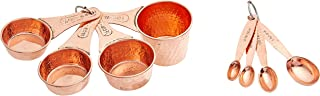 Old Dutch Solid Copper Set of 4 Measuring Cups Spoons, one size