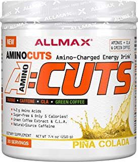 ALLMAX Nutrition A:CUTS, Amino Charged Energy Drink, Pina Colada, 210g