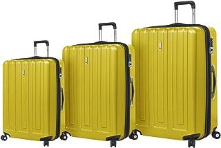 Mia Toro Italy Primario Hardside Spinner Luggage 3pc Set, Lime, One Size