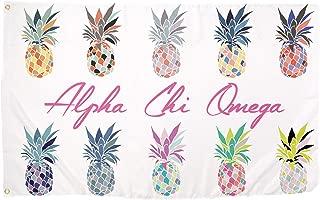 Alpha Chi Omega Pop Art Pineapple Sorority Flag Greek Letter Use as a Banner 3 x 5 Feet Sign Decor AXO