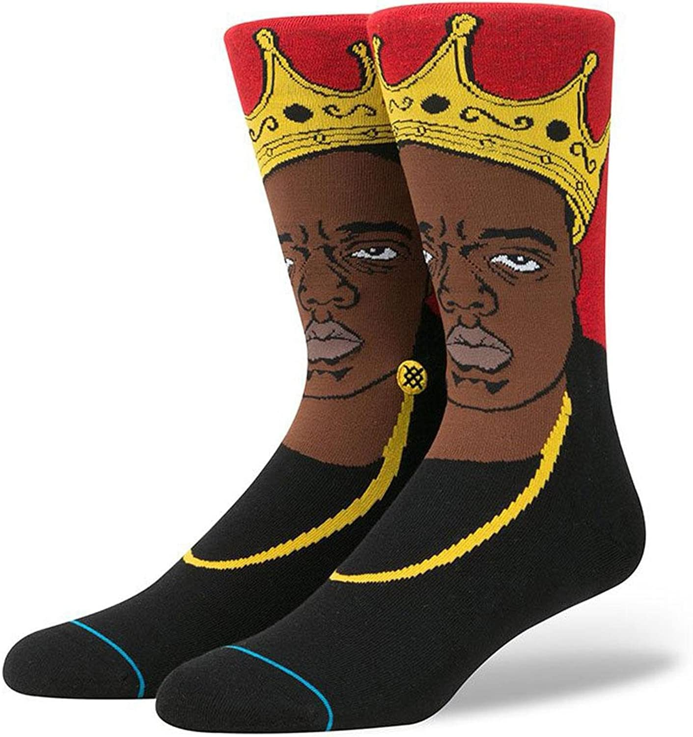 Stance Men's Notorious Big Anthem Crew Socks Red