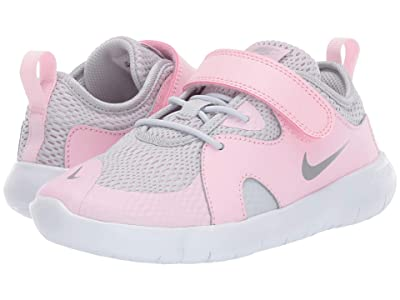 Nike Kids Flex Contact 3 (Little Kid) (Pure Platinum/Metallic Silver/Pink Foam) Kids Shoes