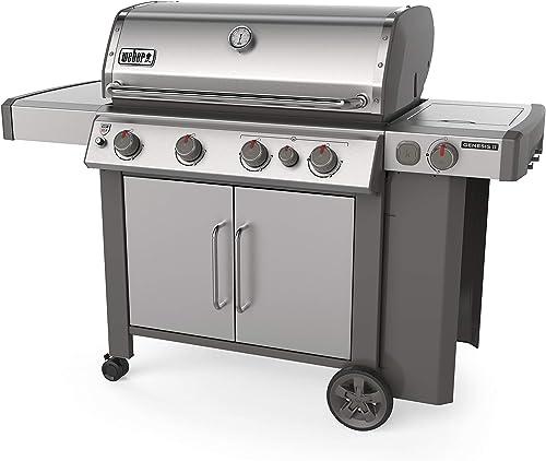 Weber-62006001-Genesis-II-S-435-4-Burner-Liquid-Propane-Grill,-Stainless-Steel