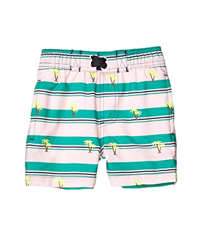 shade critters Embroidered Palms Swim Trunks (Infant/Toddler) (Green) Boy