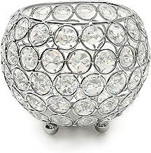VINCIGANT Silver Crystal Votive Candle Holders/Fireplace Candelabra for Anniversary Celebration,Modern Home Decor Wedding ...
