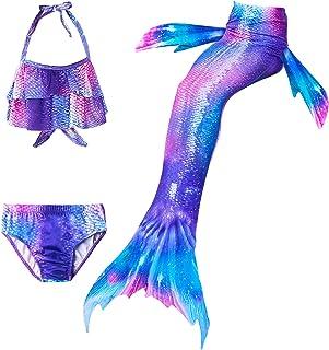 Lito Angels Costume da bagno a forma di sirena 3 pezzi