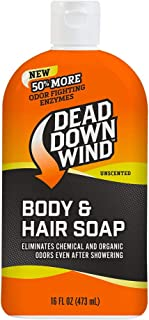 Dead Down Wind Body & Hair Soap 16 oz Unscented Hunting Scent Eliminators