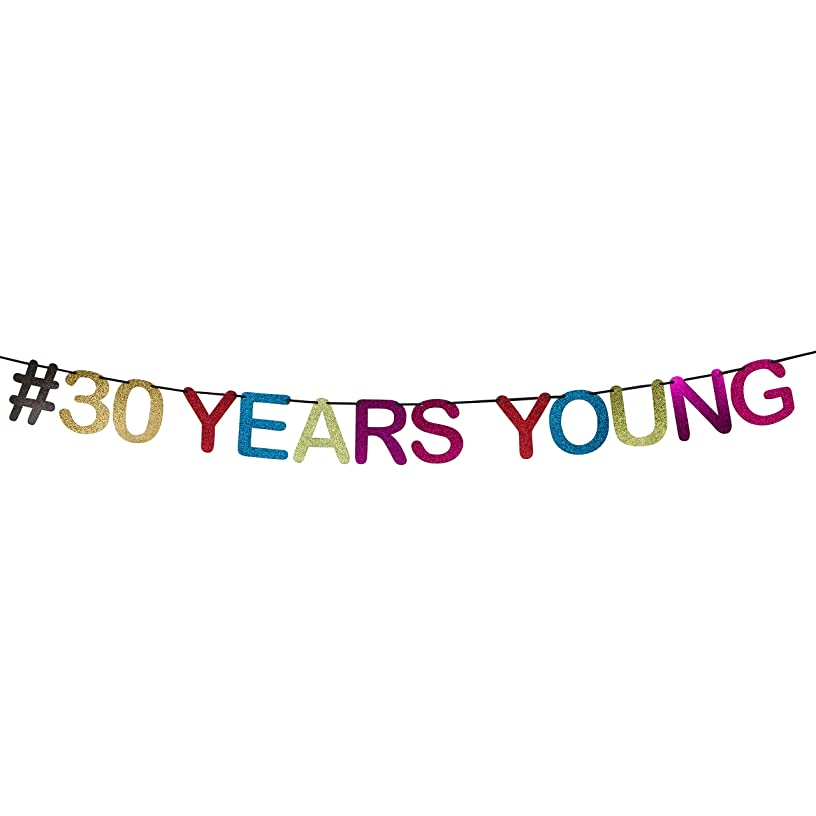#30 Years Young - 30th Birthday Banner, 30th Birthday Party Decorations By Decora360