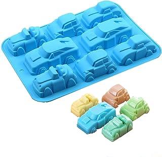 Voiture Cavité Silicone Moule Savon Moule Muffin Cup Chocolat 3D 8 Cavités Moule Cupcake Silicone épais Qualite Moule Moul...