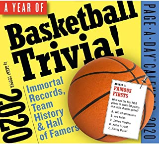 Hoops: 365 Days of Basketball Trivia Page-A-Day Calendar 2020 [5.5