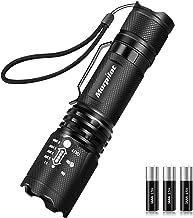morpilot Linterna Táctica y UV 2 en 1, Linterna LED 500LM, Linterna Militar, Luz UV con 4 Modos, Zoom IN/out, 395nm, Alumi...