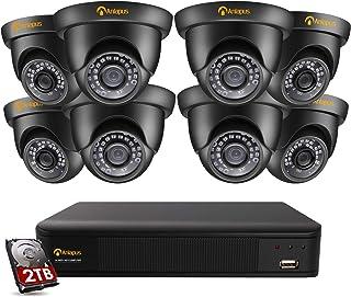 Anlapus 8CH 5MP H.265+ Kit de Cámaras Vigilancia 8 Cámaras de Seguridad 2TB Disco Duro 20M Visión Nocturna Detección de Movimiento