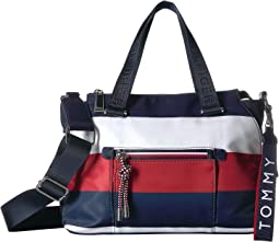 Lani Convertible Mini Bag Corporate Stripe