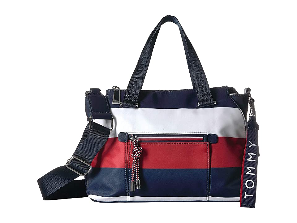 Tommy Hilfiger Lani Convertible Mini Bag Corporate Stripe (Navy/Natural) Handbags