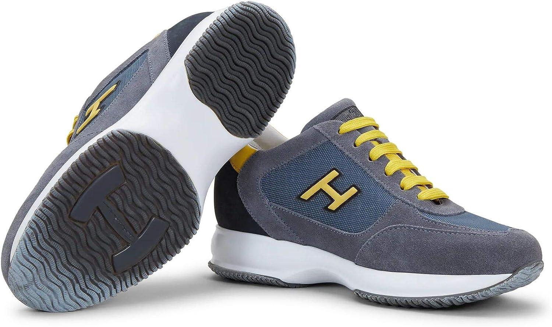 Hogan Sneakers Uomo Interactive Gialle e Grigie in camoscio